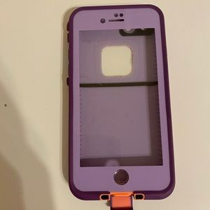 purple life proof case for iphones 6,7,8 !